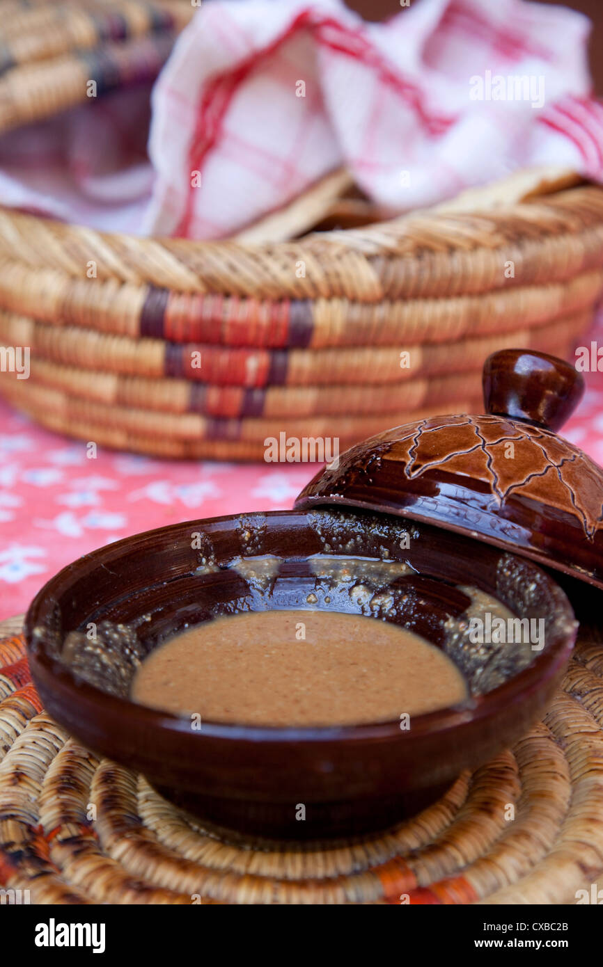 Argen making, Asni, Atlas Mountains, Morocco, North Africa, Africa - Stock Image