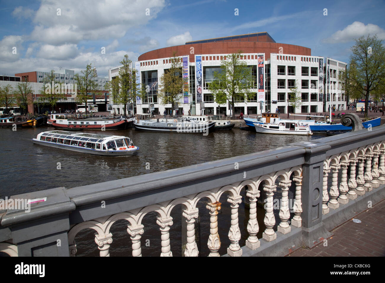 Stadhuis and Music Theatre, Amsterdam, Holland, Europe Stock Photo - Alamy