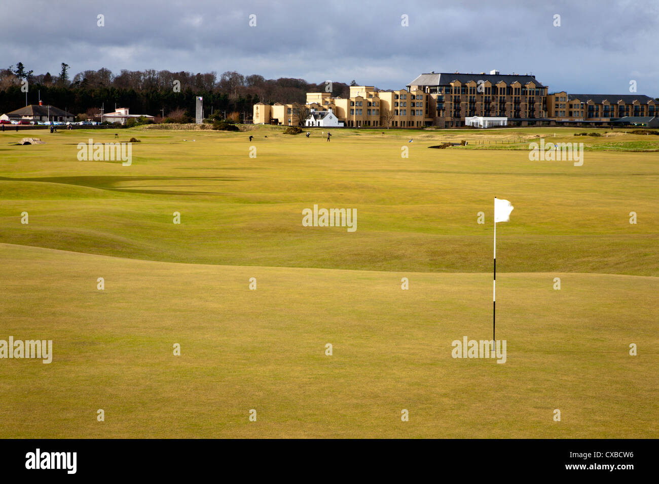 Eighteenth Green at The Old Course, St. Andrews, Fife, Scotland, United Kingdom, Europe - Stock Image