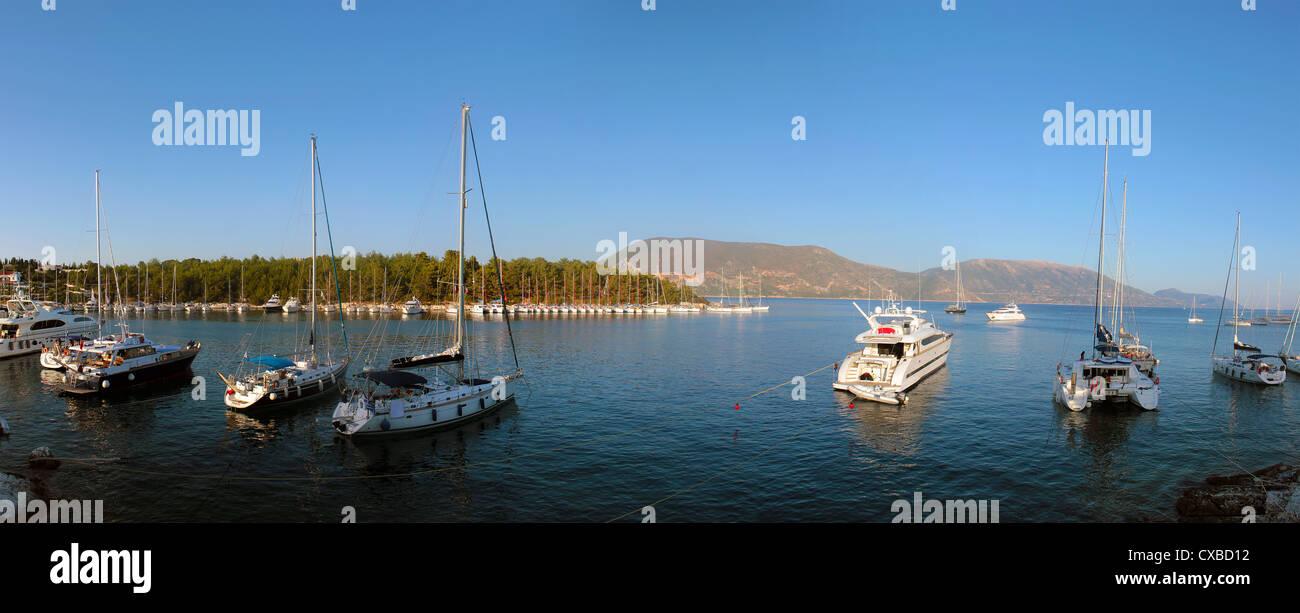A Greek harbor - Stock Image