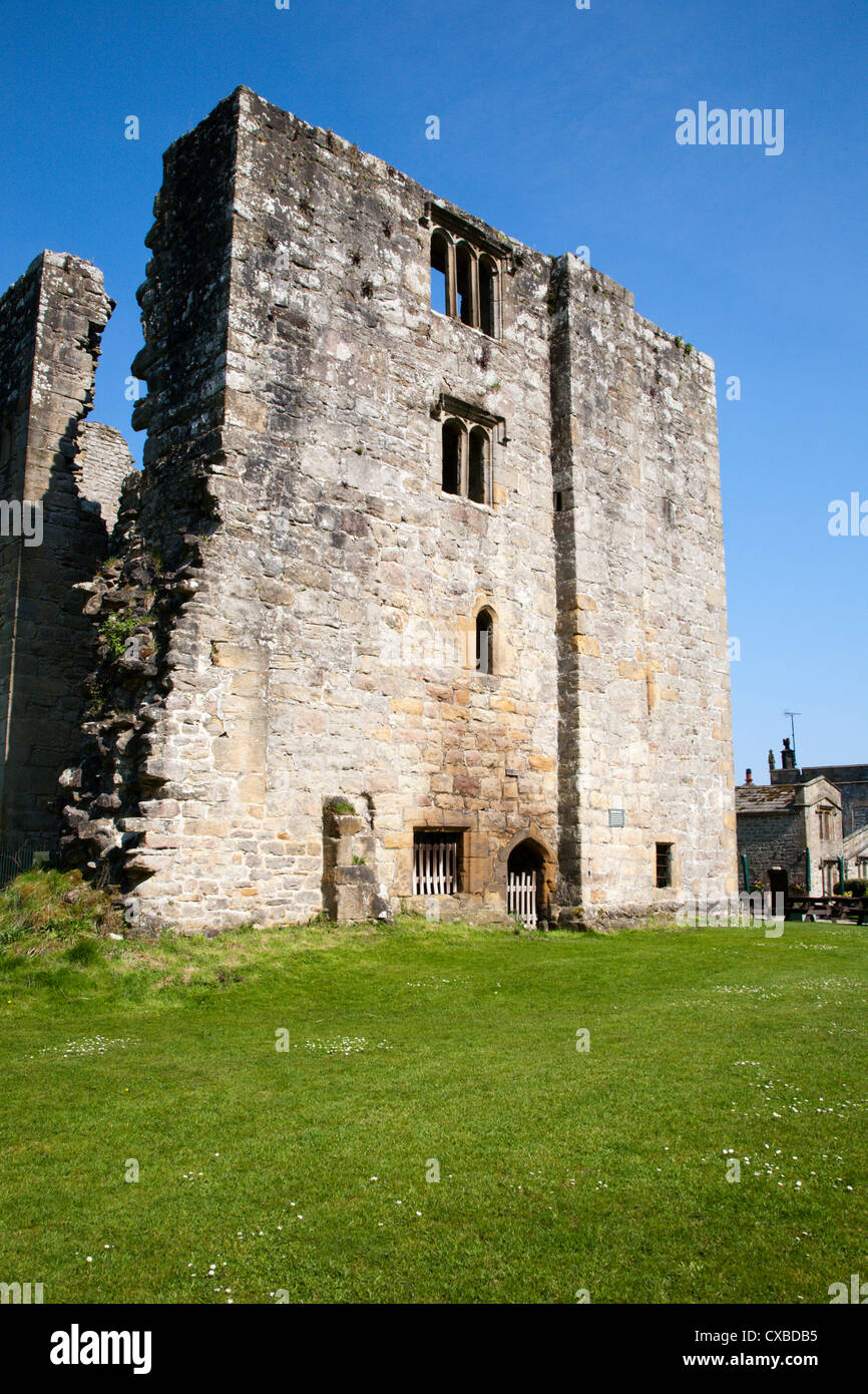 Barden Tower on the Bolton Abbey Estate, Wharfedale, Yorkshire Dales, Yorkshire, England, United Kingdom, Europe - Stock Image