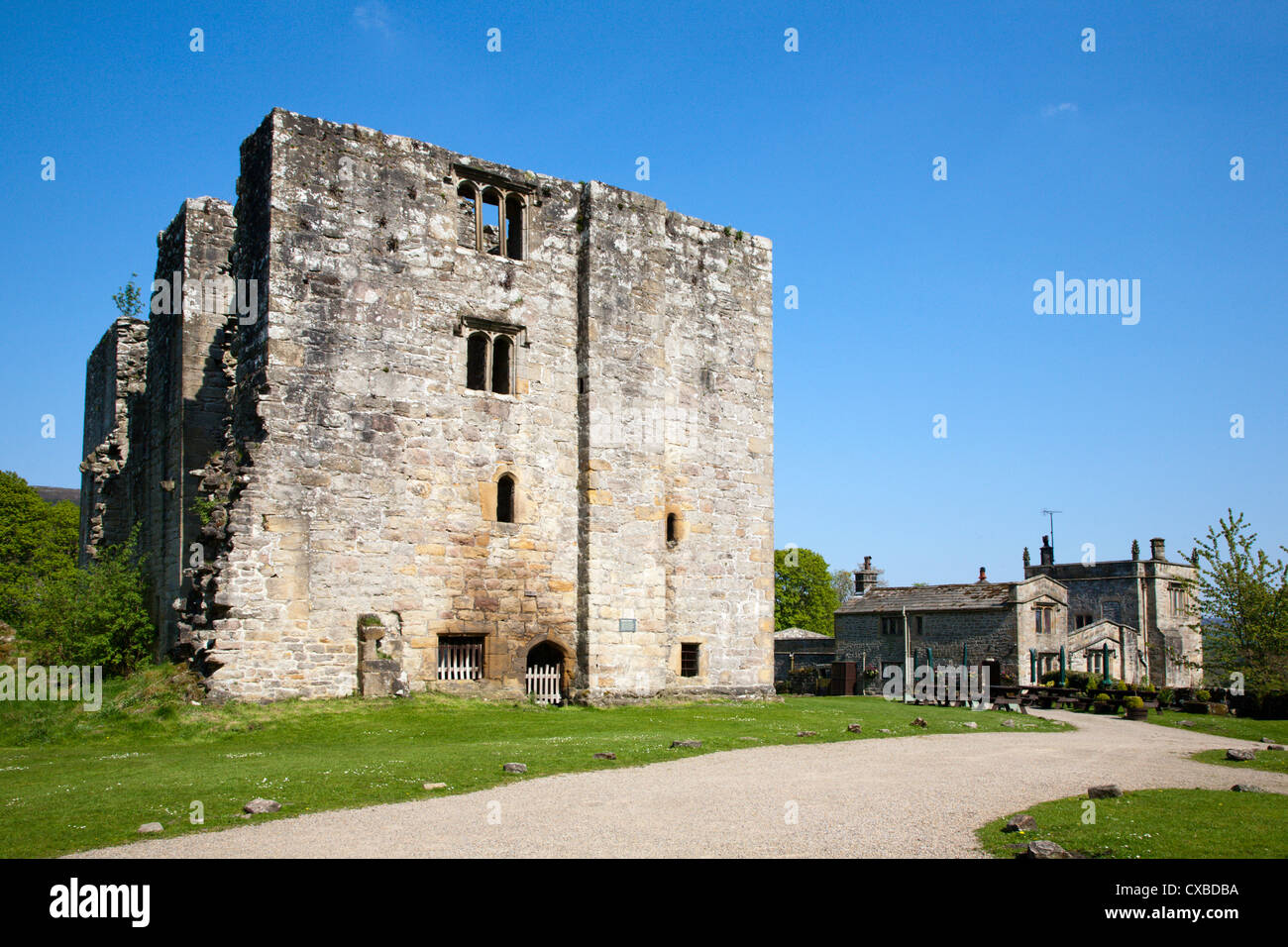 Barden Tower on the Bolton Abbey Estate, Wharfedale, Yorkshire Dales, Yorkshire, England, United Kingdom, Europe Stock Photo