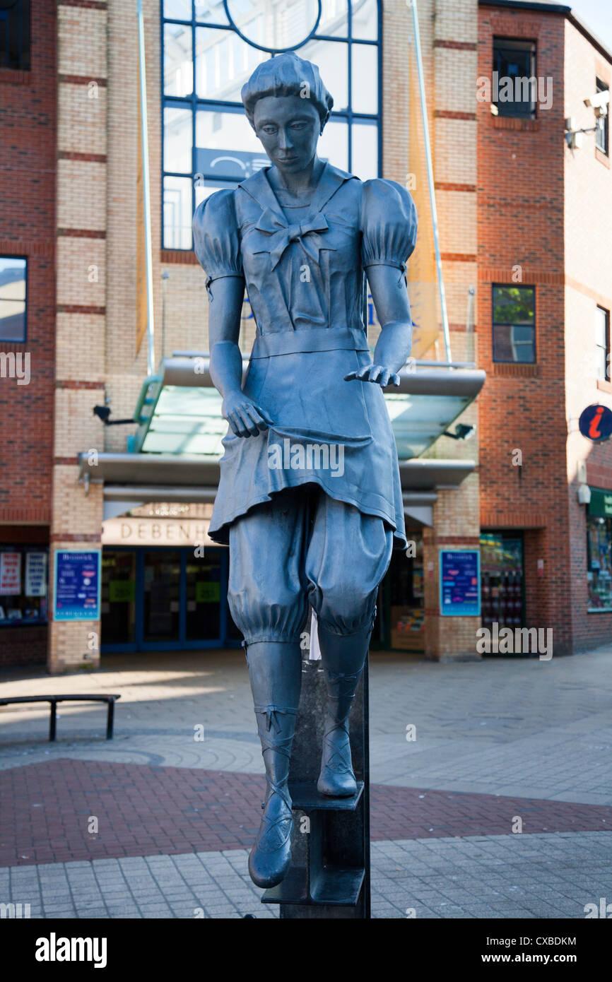 Bathing Belle statue on Westborough, Scarborough, North Yorkshire, Yorkshire, England, United Kingdom, Europe - Stock Image