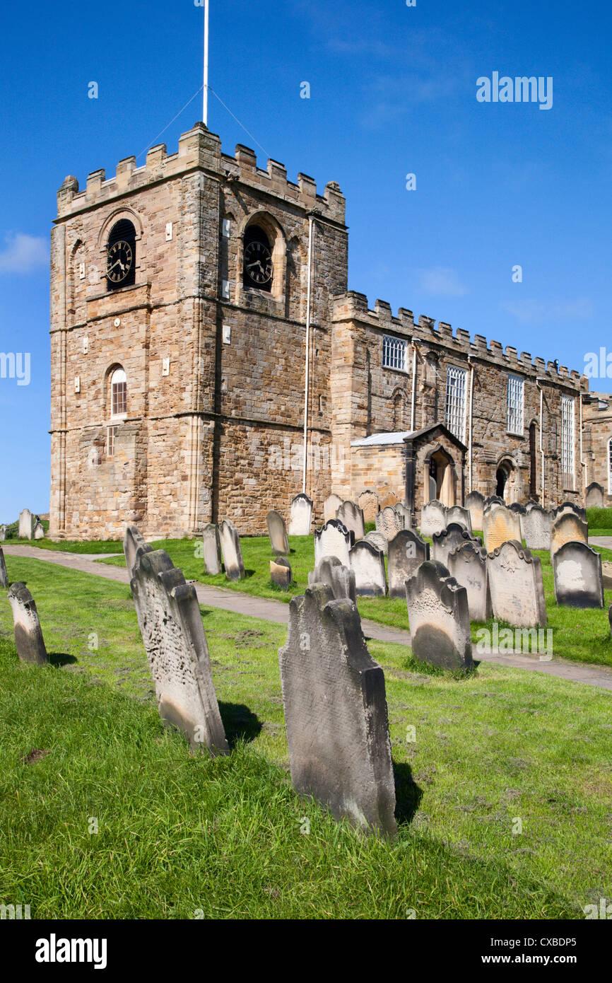 St. Mary's Parish Church at Whitby, North Yorkshire, Yorkshire, England, United Kingdom, Europe Stock Photo