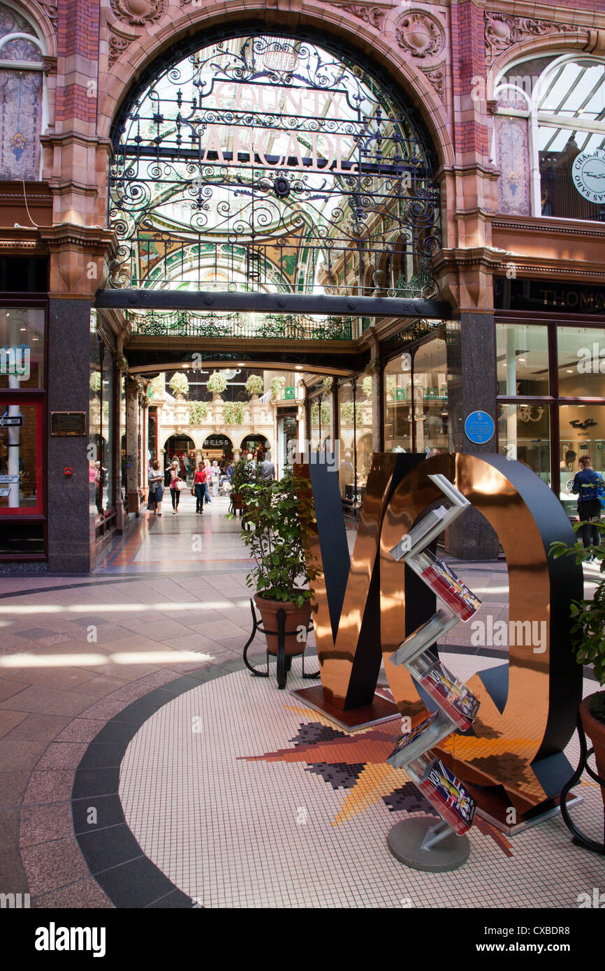 The County Arcade in the Victoria Quarter, Leeds, West Yorkshire, Yorkshire, England, United Kingdom, Europe - Stock Image