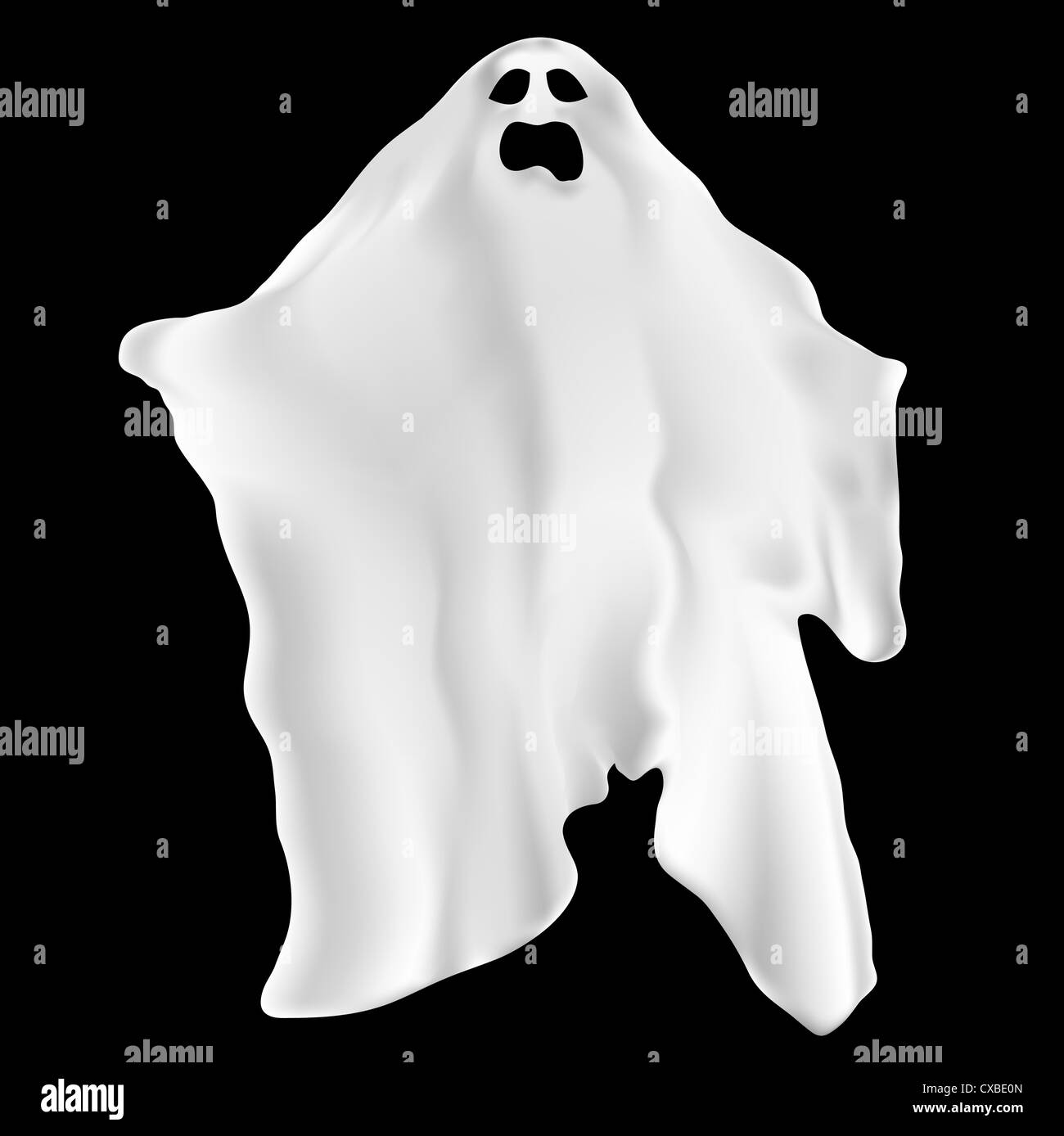 Illustration of a spooky ghost - Stock Image