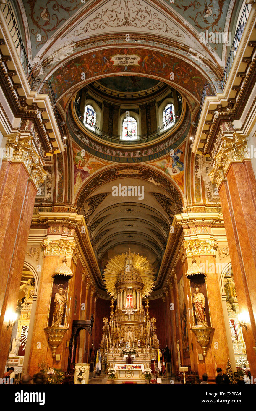 Iglesia Catedral, the main cathedral on 9 julio square,Salta city, Argentina. - Stock Image