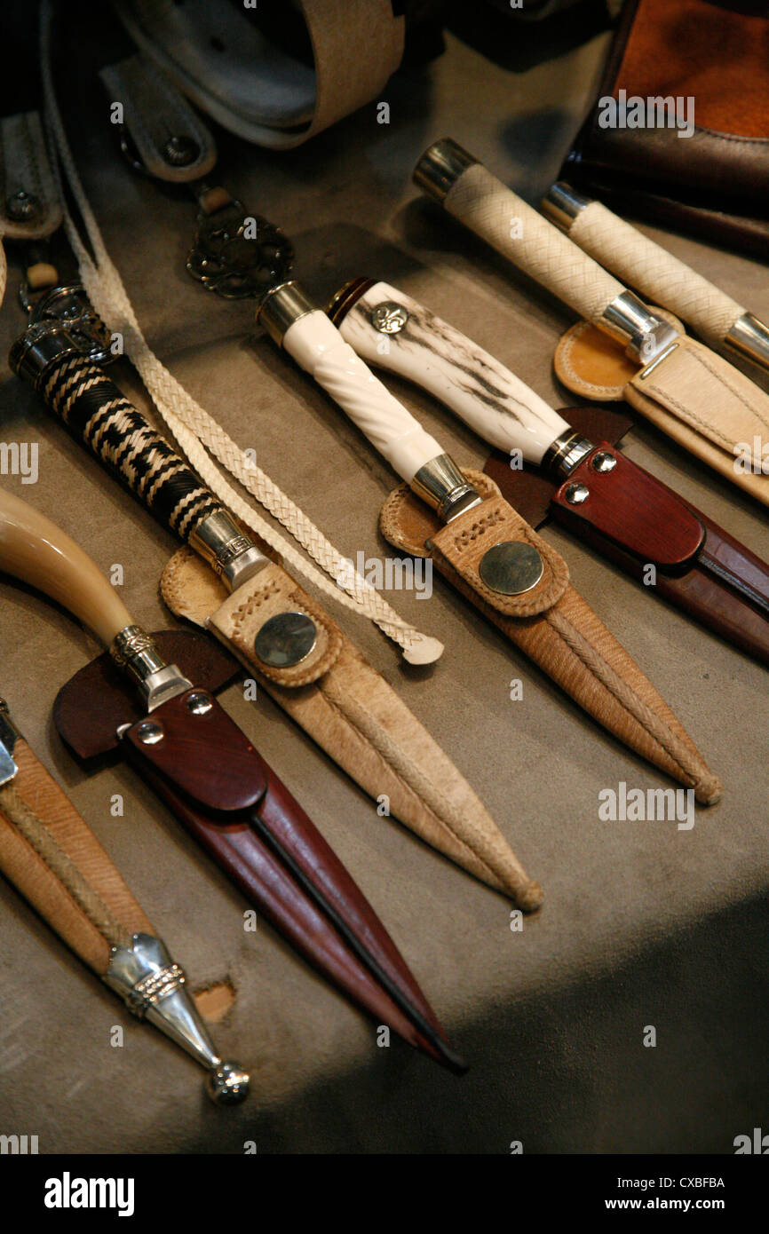 Traditional knives, Salta city, Argentina. - Stock Image
