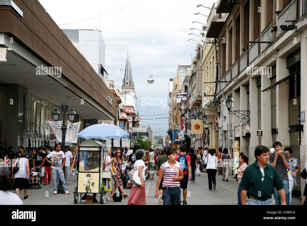 Pedestrian street in Salta city, Argentina. - Stock Image