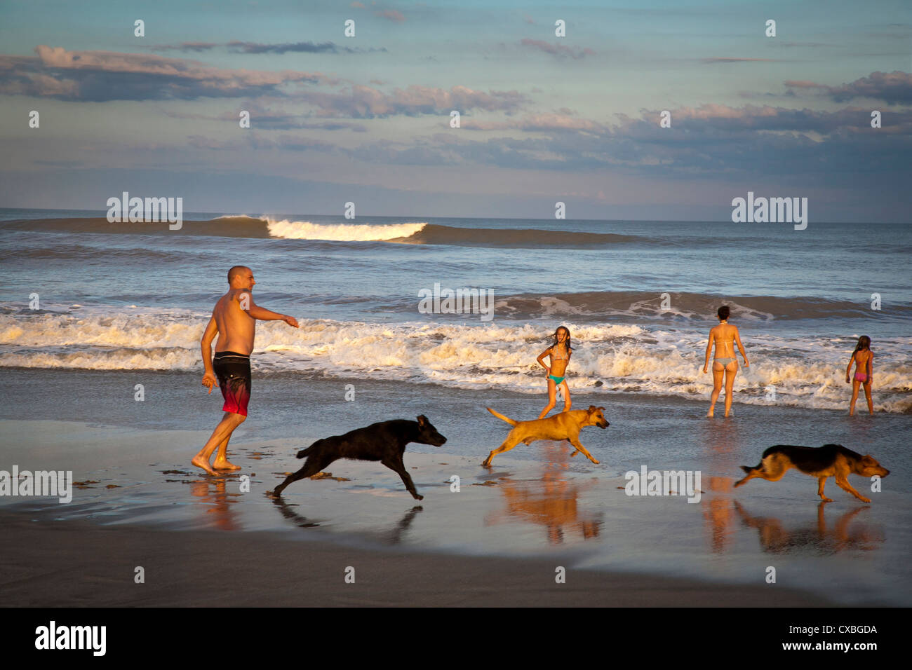Beach, Mar de las Pampas, Argentina. Stock Photo