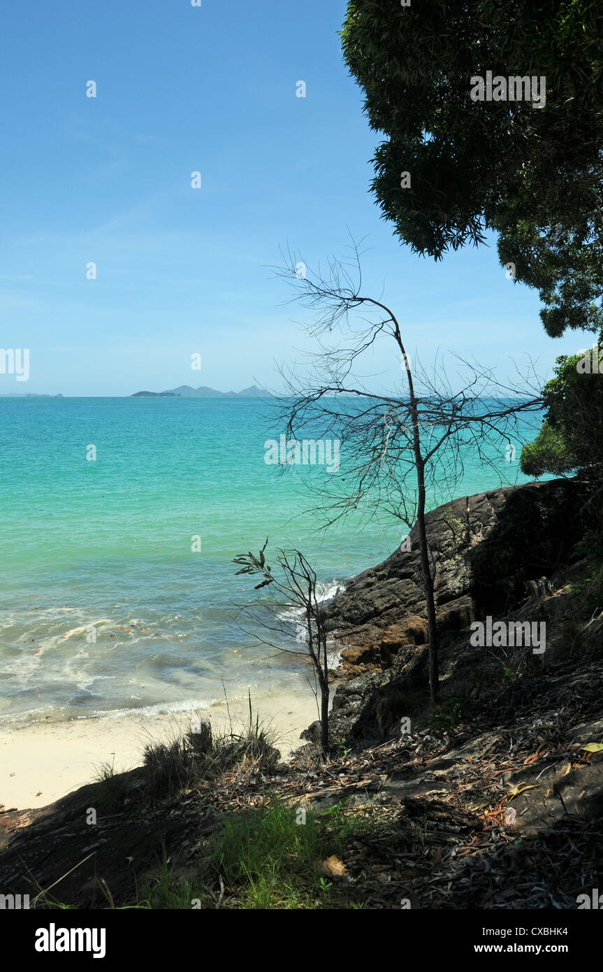 Whitsunday Island Whitehaven beach, Queensland Australia - Stock Image