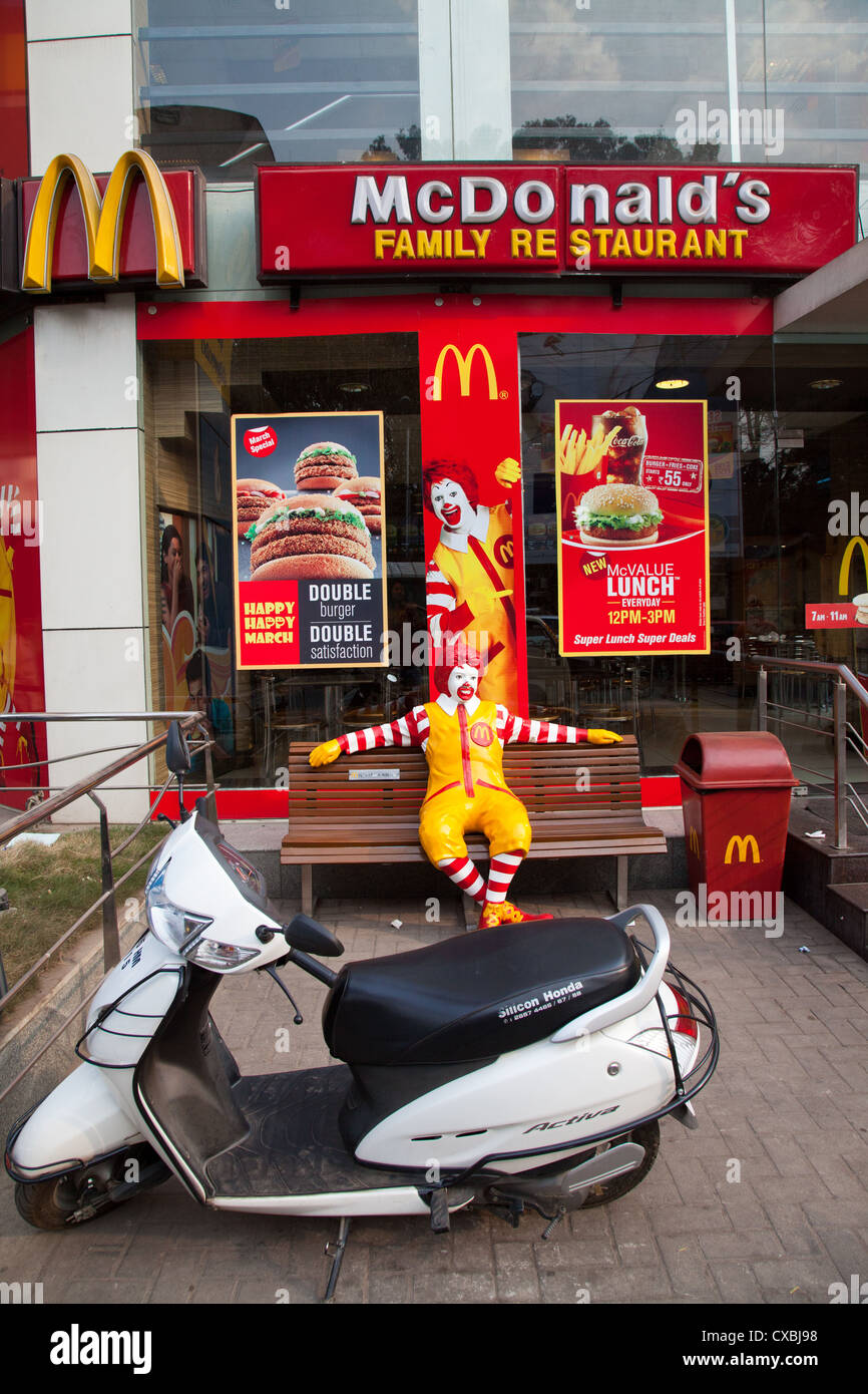 McDonalds, Bangalore, India - Stock Image