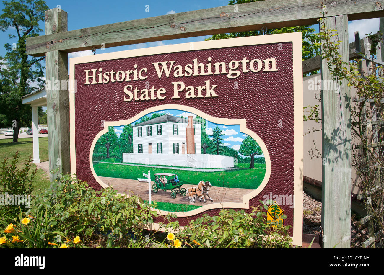 Arkansas, Washington, Historic Washington State Park, living history museum interprets the village history from - Stock Image