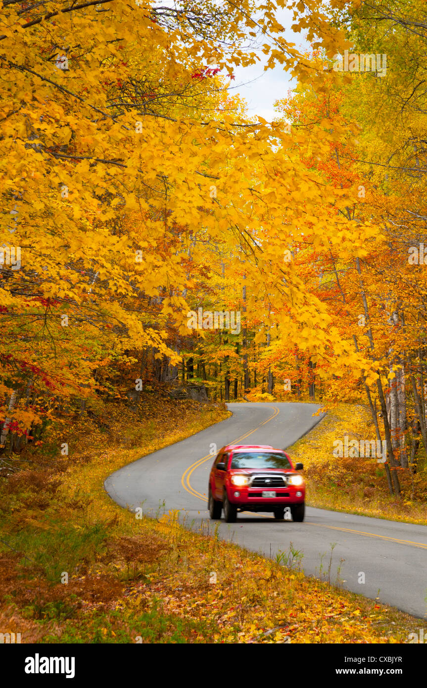 Millinocket to Baxter State Park Road, Maine, New England, United States of America, North America - Stock Image