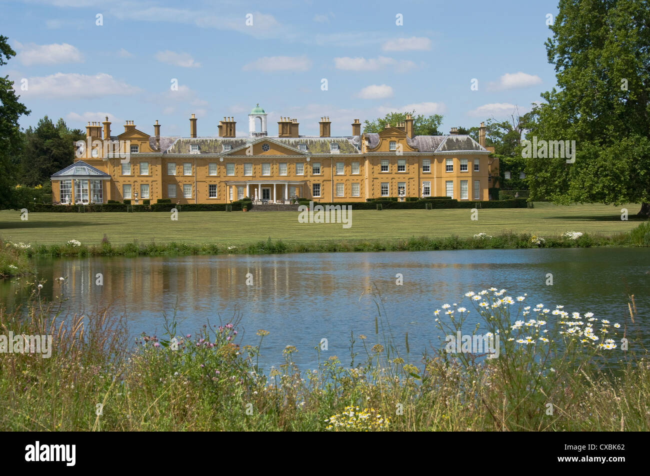 Stratfield Saye, the home of the Duke of Wellington and still the family home, Reading, Berkshire, England, United - Stock Image