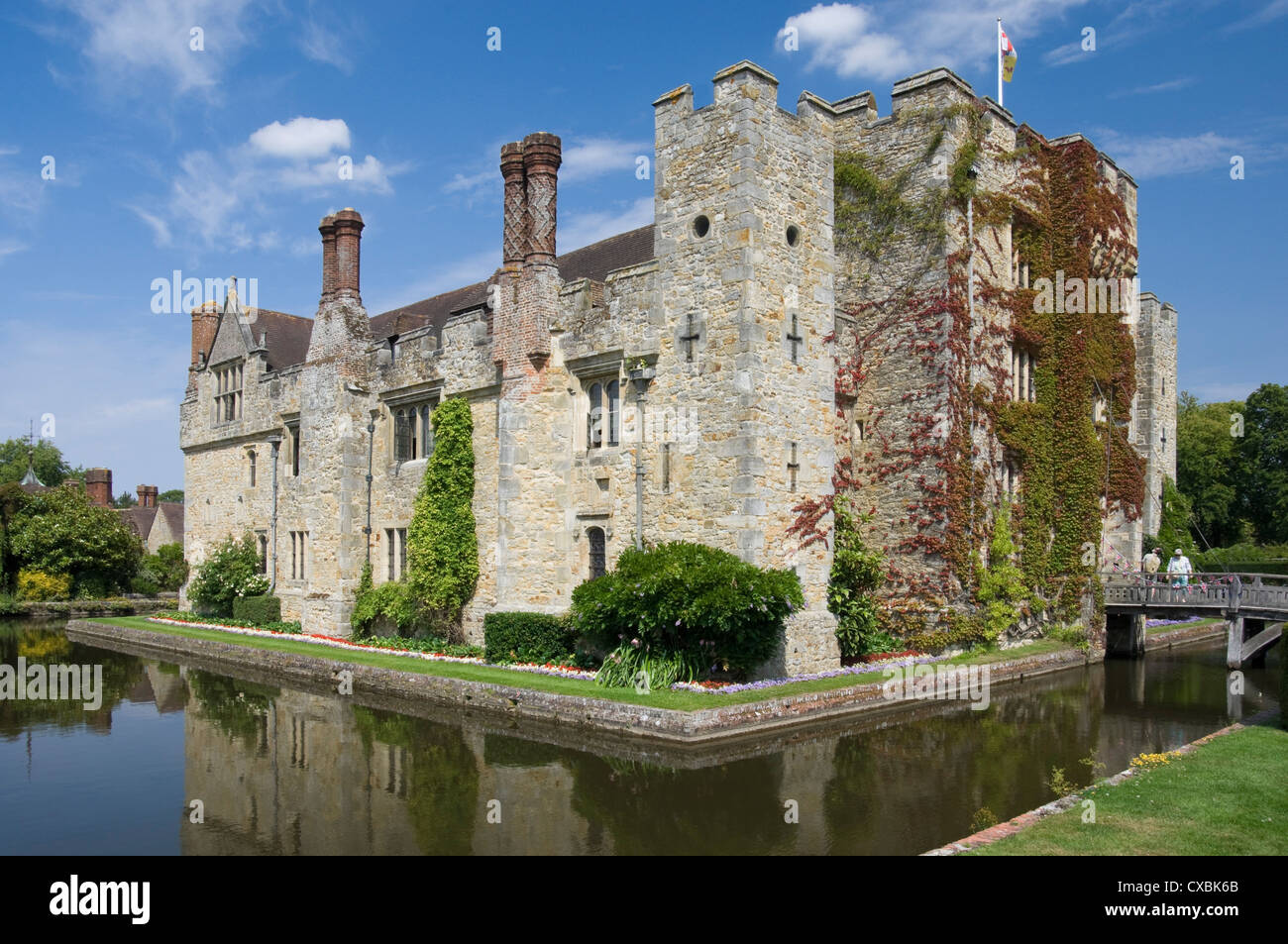 Hever Castle, dating from the 13th century, childhood home of Anne Boleyn, Kent, England, United Kingdom, Europe - Stock Image