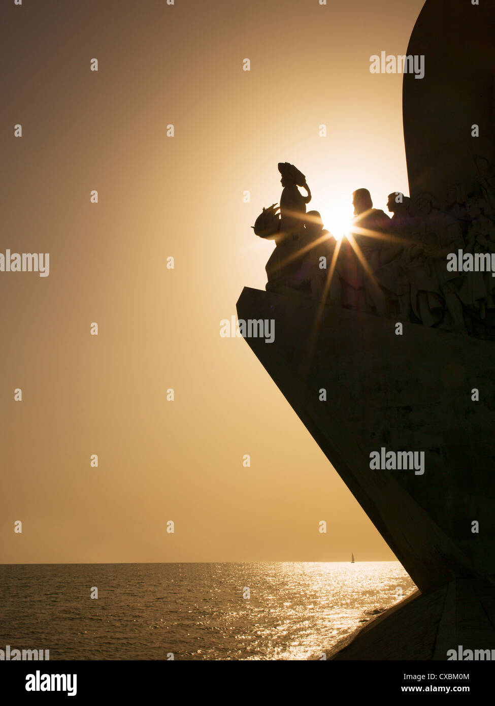 Monument to Discoveries, Belem, Lisbon, Portugal, Europe - Stock Image