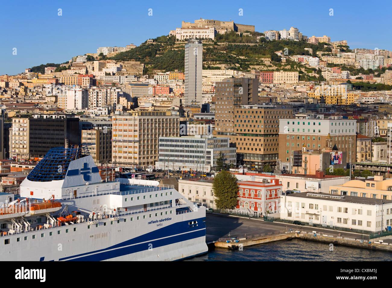 Port of Naples, Campania, Italy, Europe - Stock Image