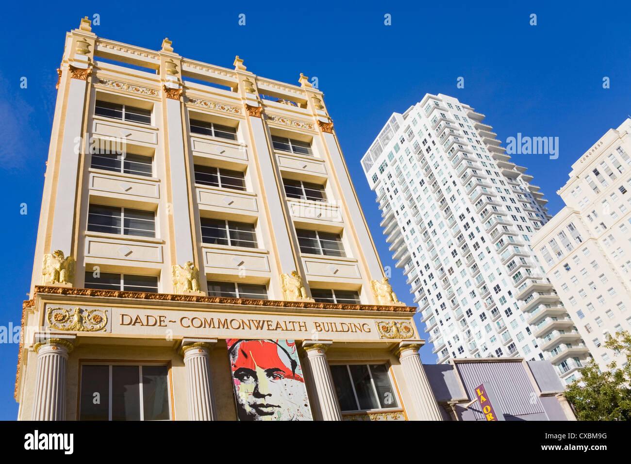 Historic Dade-Commonwealth Building, Miami, Florida, United States of America, North America - Stock Image