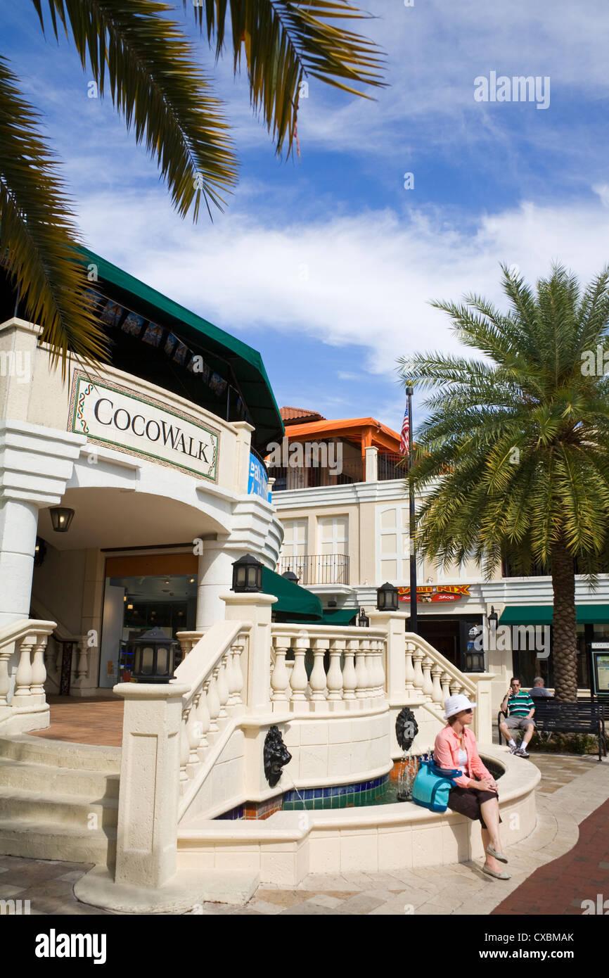 Cocowalk shopping mall in Coconut Grove, Miami, Florida, United States of America, North America - Stock Image