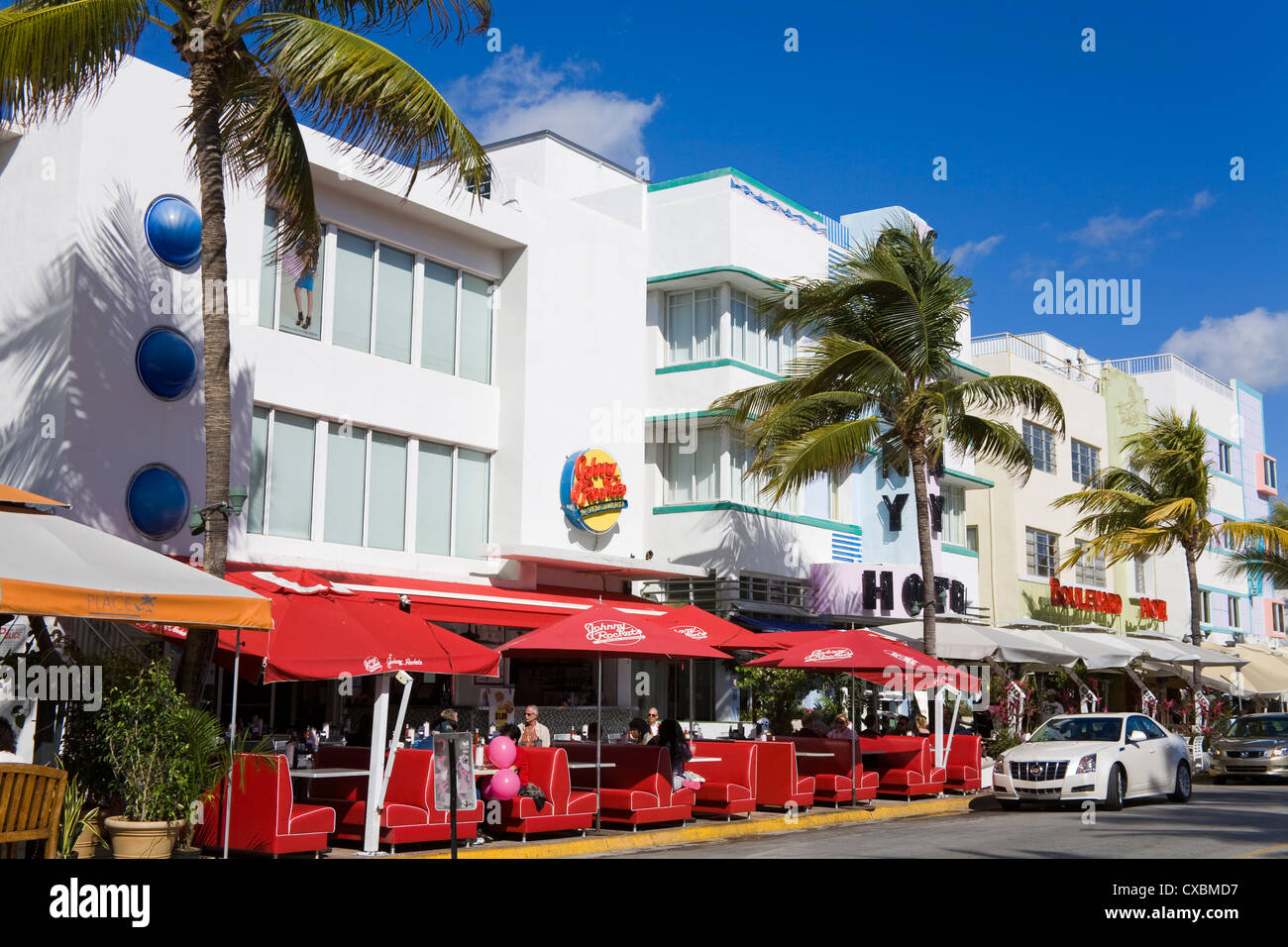 Johnny Rockets restaurant in South Beach, City of Miami Beach, Florida, United States of America, North America Stock Photo