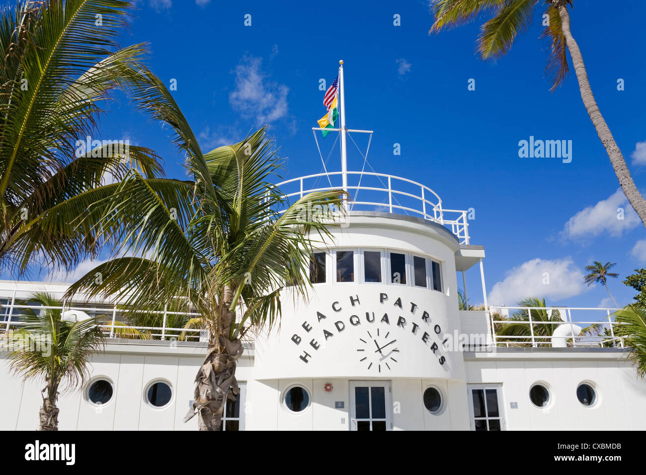 Beach Patrol Headquarters on South Beach, City of Miami Beach, Florida, United States of America, North America - Stock Image