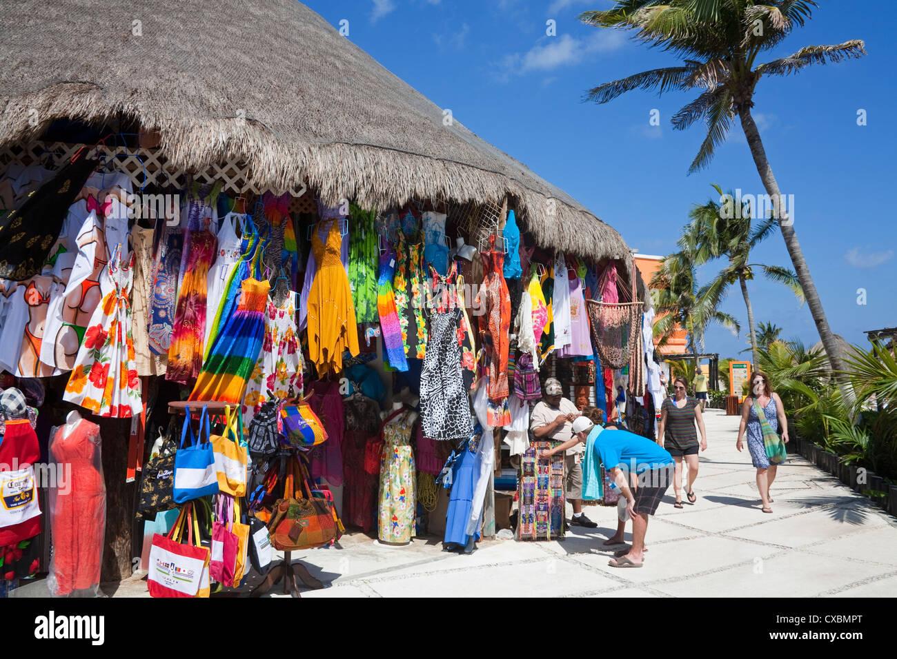 Store in Costa Maya port, Quintana Roo, Mexico, North America - Stock Image