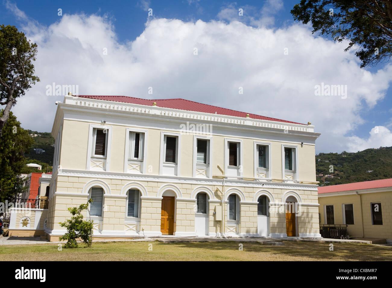 Legislature Building in Charlotte Amalie, St. Thomas Island, U.S. Virgin Islands, West Indies, Caribbean, Central - Stock Image