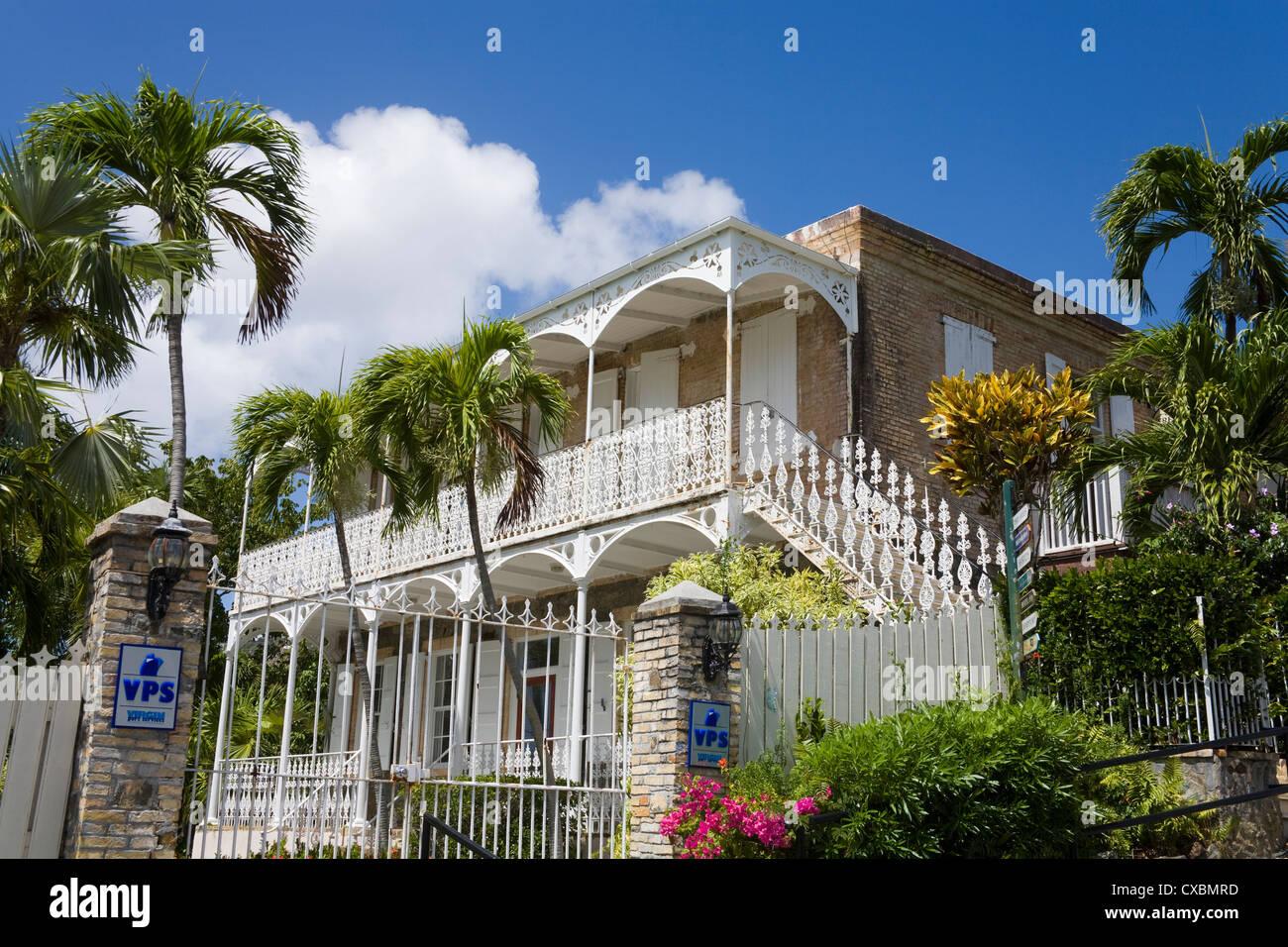 Villa Notman in Kongens Quarter, Charlotte Amalie, St. Thomas Island, U.S. Virgin Islands, West Indies - Stock Image