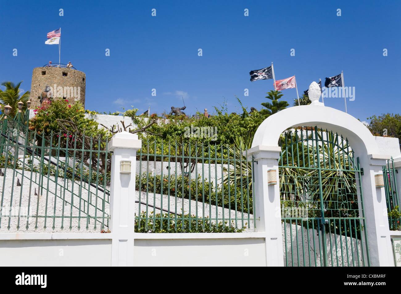 Blackbeard's Castle in Kongens Quarter, Charlotte Amalie, St. Thomas Island, U.S. Virgin Islands, West Indies - Stock Image