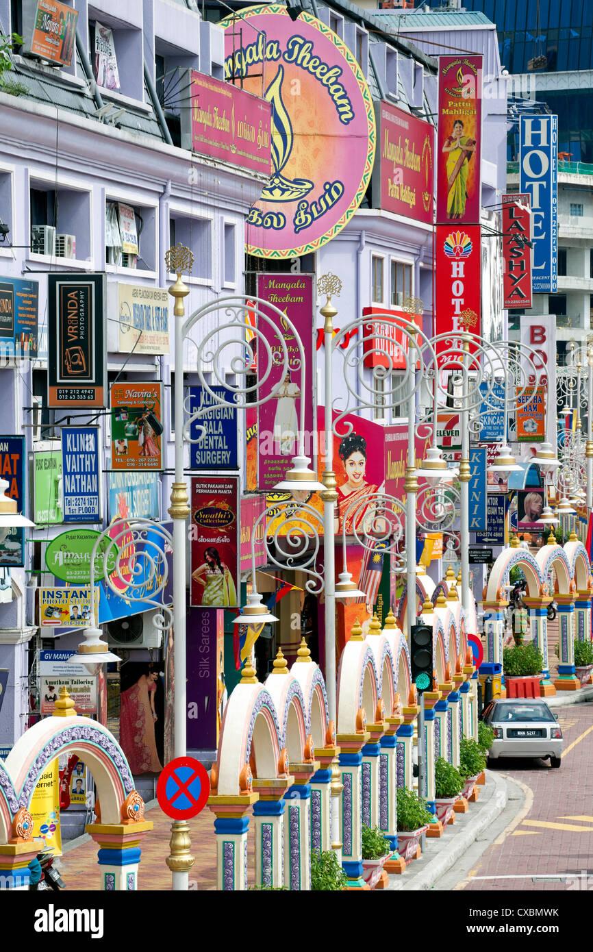 Jalan Tun Sambantham, Little India, Kuala Lumpur, Malaysia, Southeast Asia, Asia - Stock Image