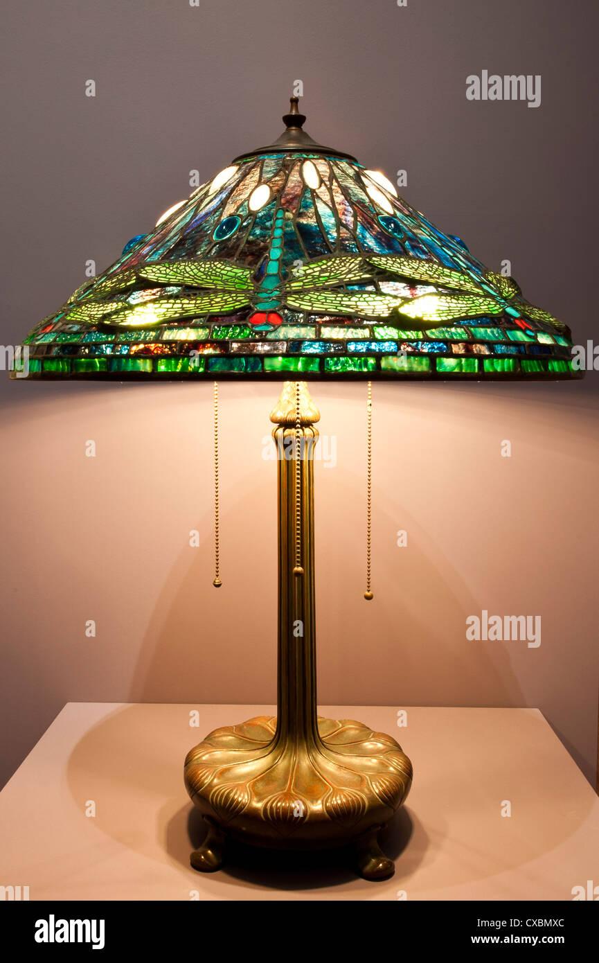 Tiffany lamp, the Charles Hosmer Morse Museum, Winter Park, Florida, United States of America, North America - Stock Image