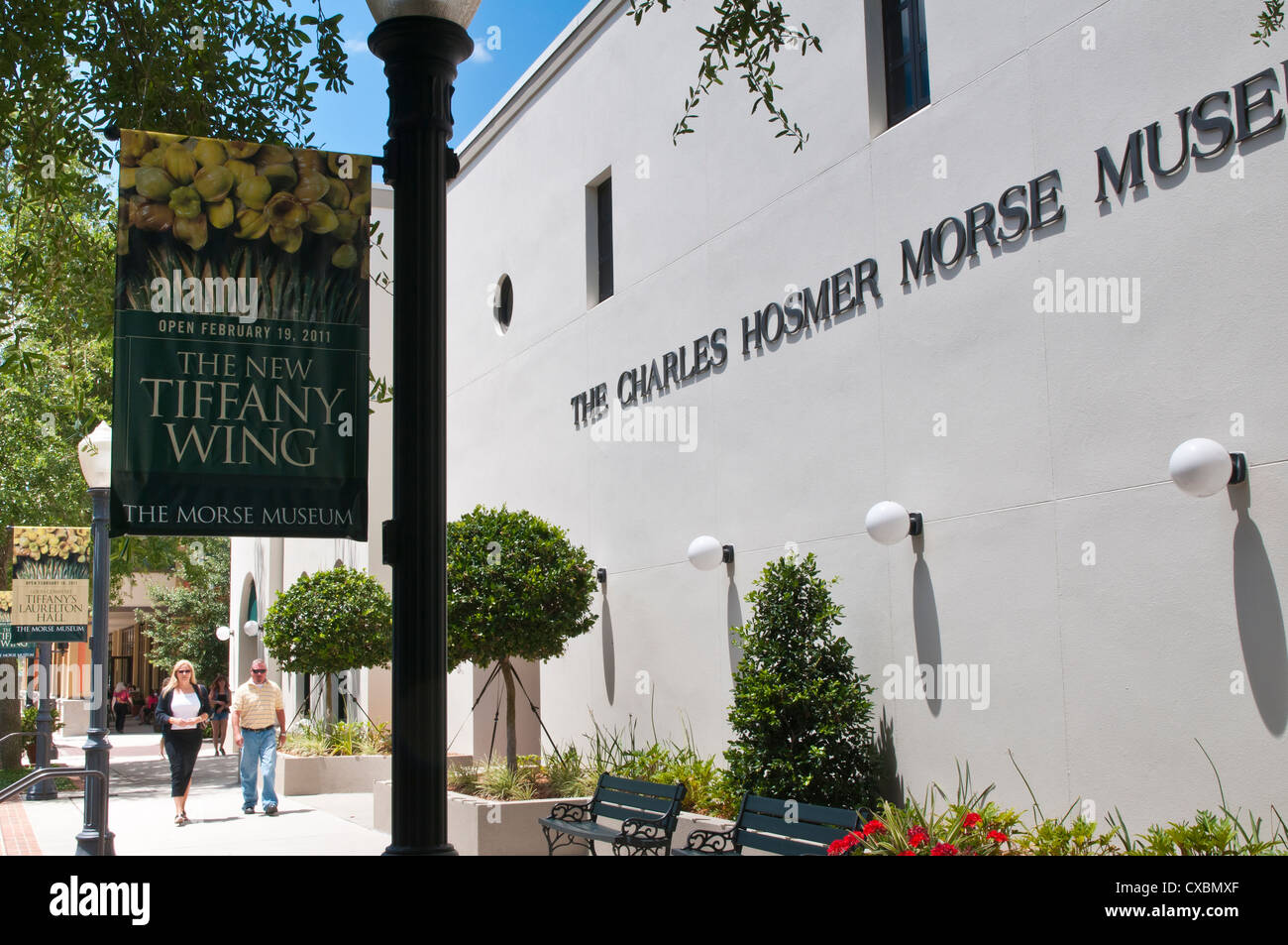 The Charles Hosmer Morse Museum, Winter Park, Florida, United States of America, North America - Stock Image