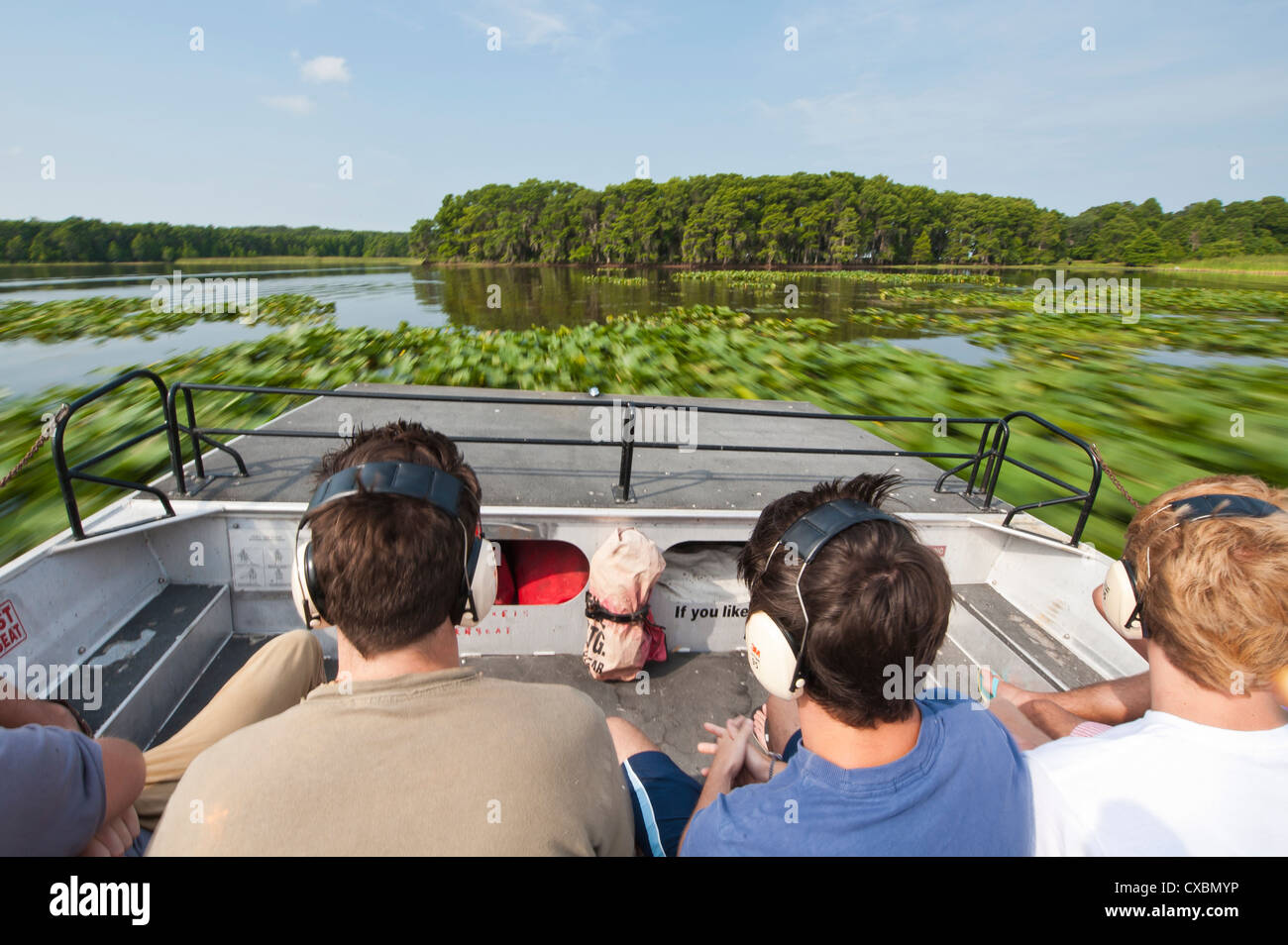 Air boating in the Everglades, UNESCO World Heritage Site, Florida, United States of America, North America - Stock Image