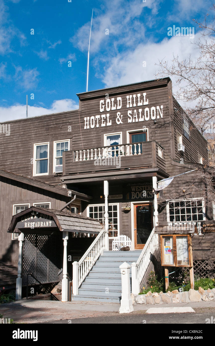 Gold Hill Hotel and Saloon, Nevada's oldest hotel dating from 1859, Virginia City, Nevada, United States of - Stock Image
