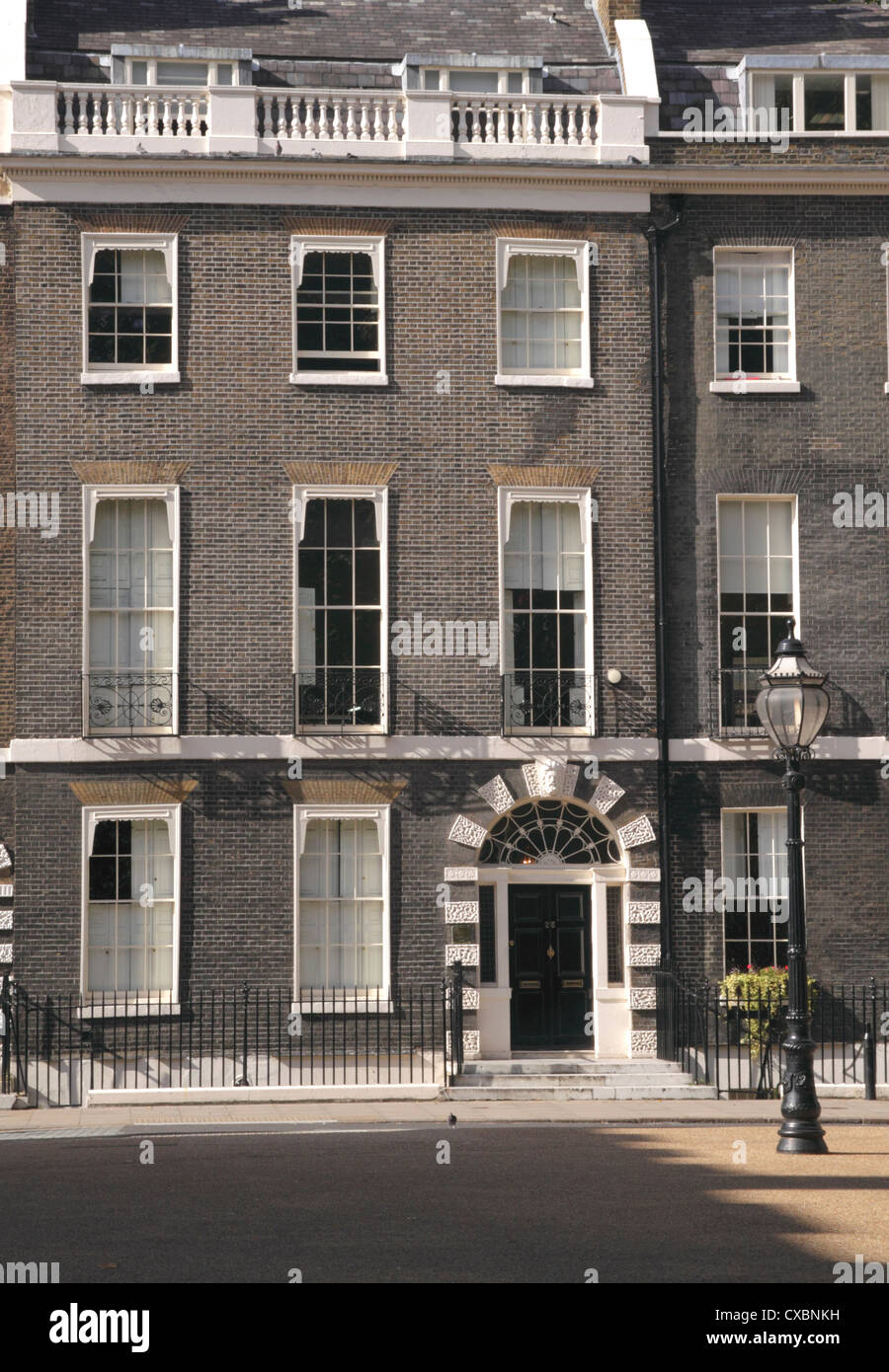 Terraced house Bedford Square Bloomsbury London - Stock Image