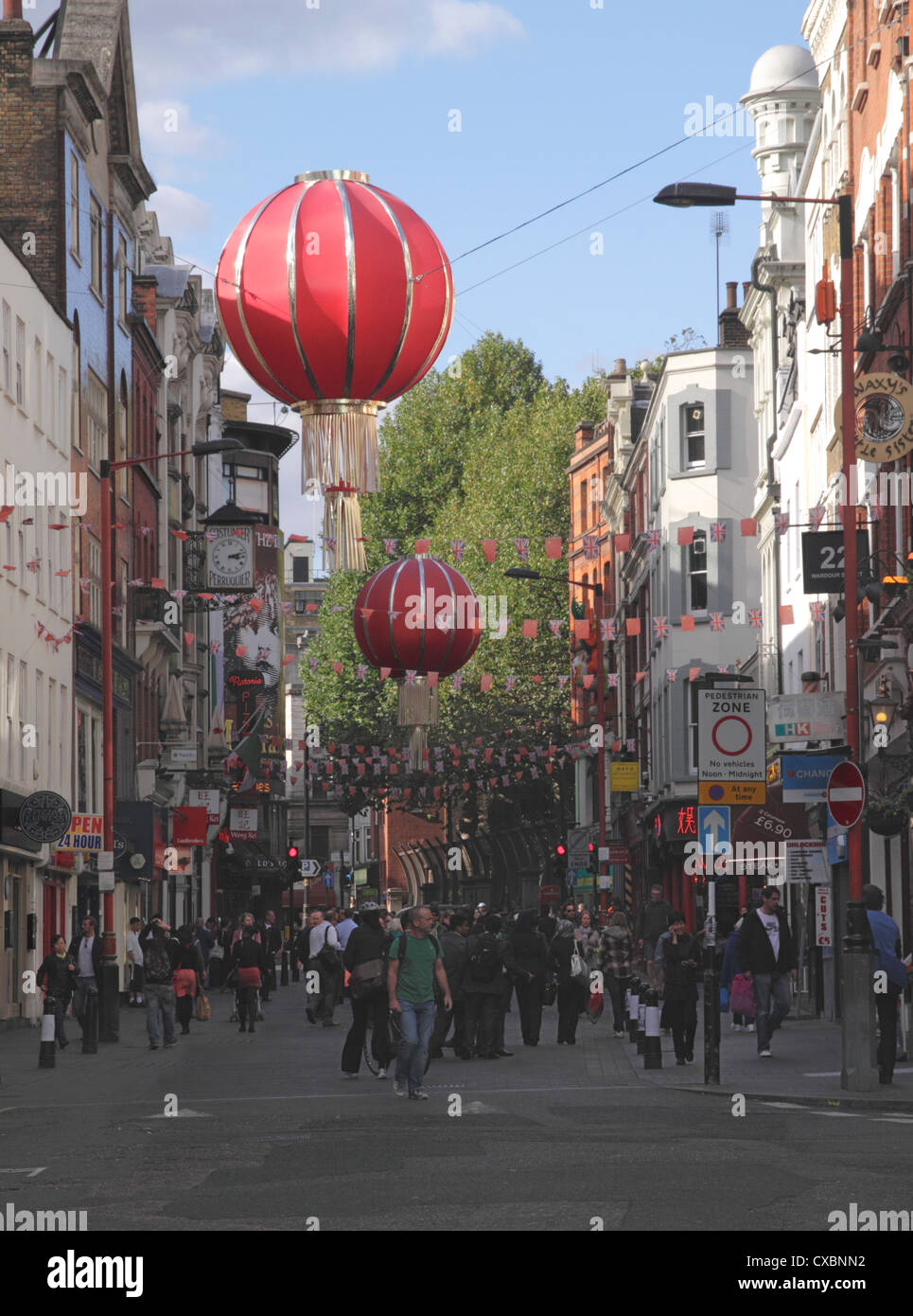 Wardour Street Chinatown Soho London - Stock Image