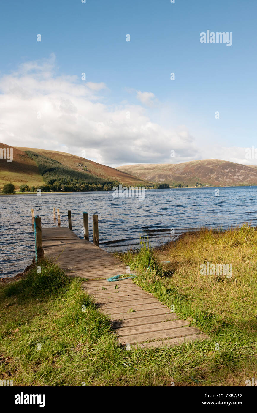 The Landing Stage at St Mary's Loch, Dumfries & Galloway, Scottish Borders, UK -4 - Stock Image