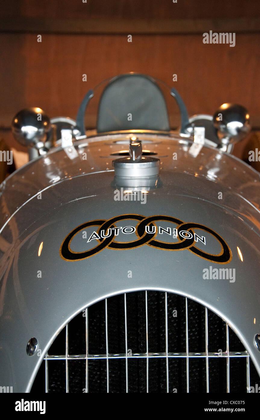 Auto Union Type A 1934 Silver Arrow Formula One Race Car - Stock Image