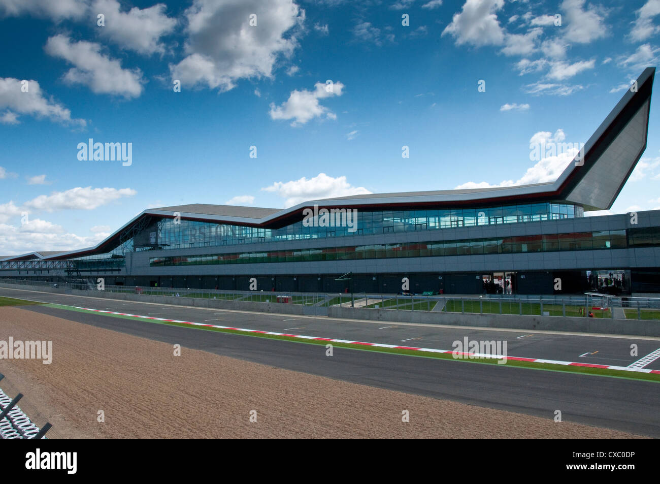 New Silverstone Pit Lane Building 'The Wing' - Stock Image