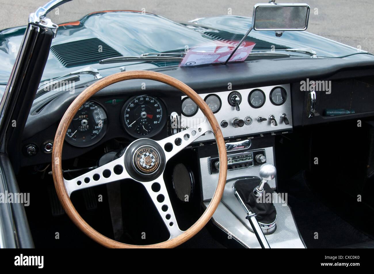 E Type Jaguar Interior   Stock Image