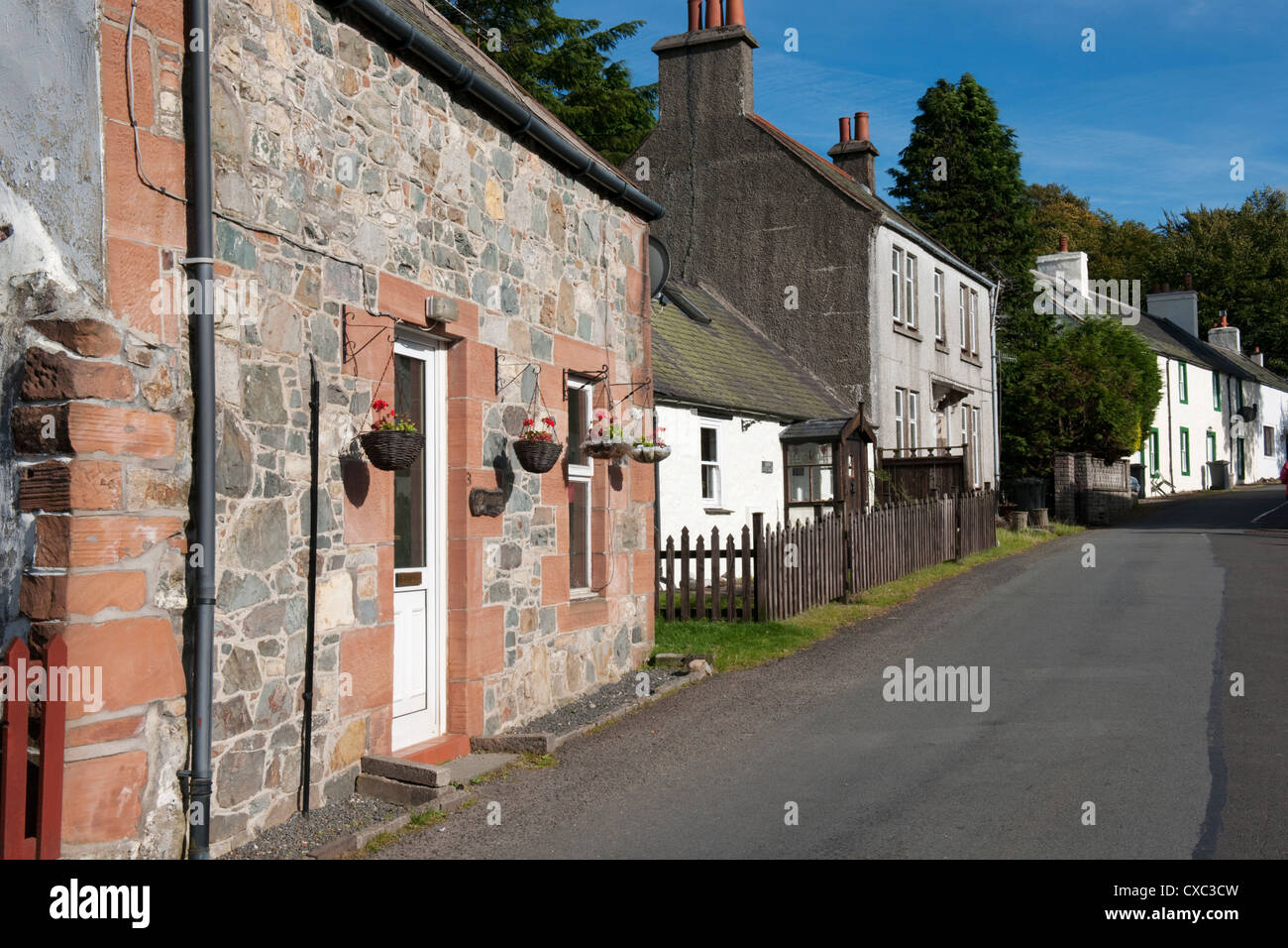 Miners Cottages, Wanlockhead, Dumfries and Galloway, Scotland -2 - Stock Image