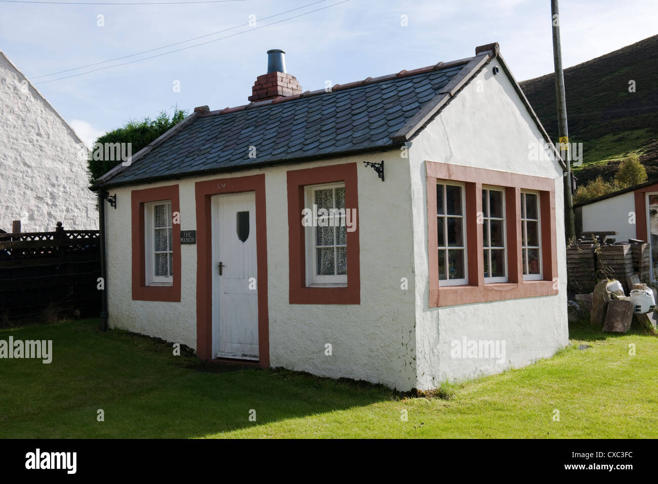 Miners Cottage, Wanlockhead, Dumfries and Galloway, Scotland -1 - Stock Image
