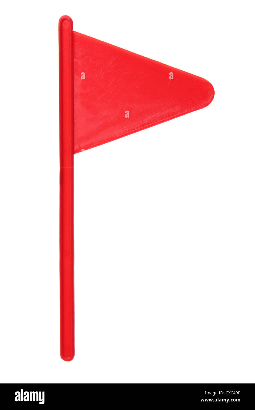 Red Golf Flag - Stock Image