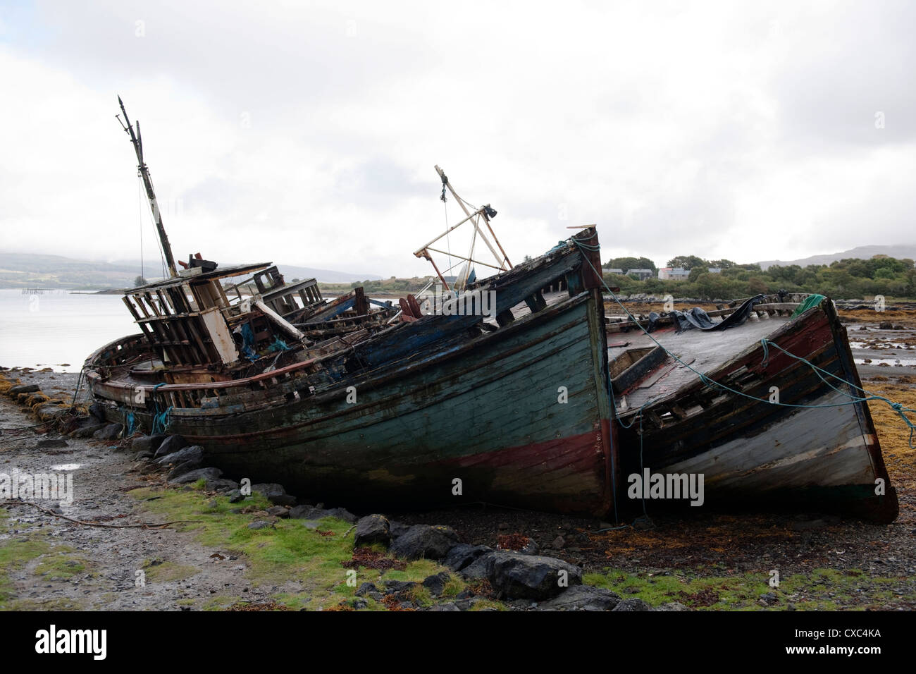Derelict boats on the Isle of Mull, Inner Hebrides -4 Stock Photo