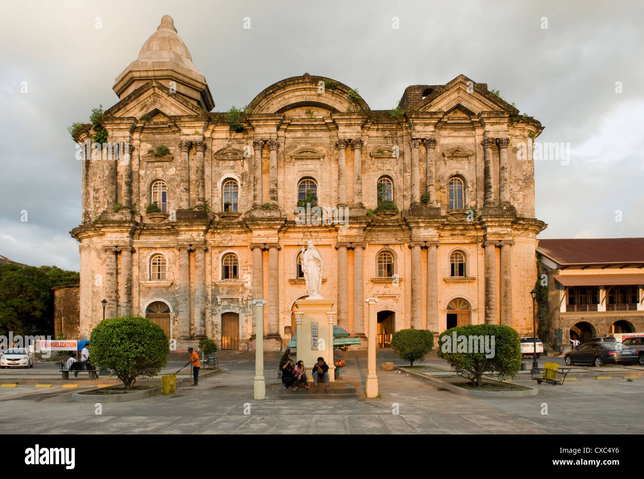 Taal Basilica dating from 1856, the largest church in the Philippines, Philippines, Southeast Asia, Asia - Stock Image