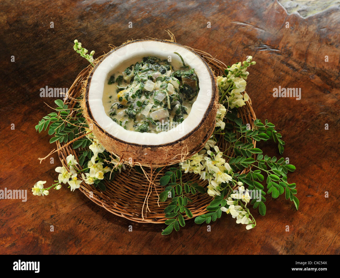 Malungay soup, a popular filipino dish, Philippines, Southeast Asia, Asia - Stock Image