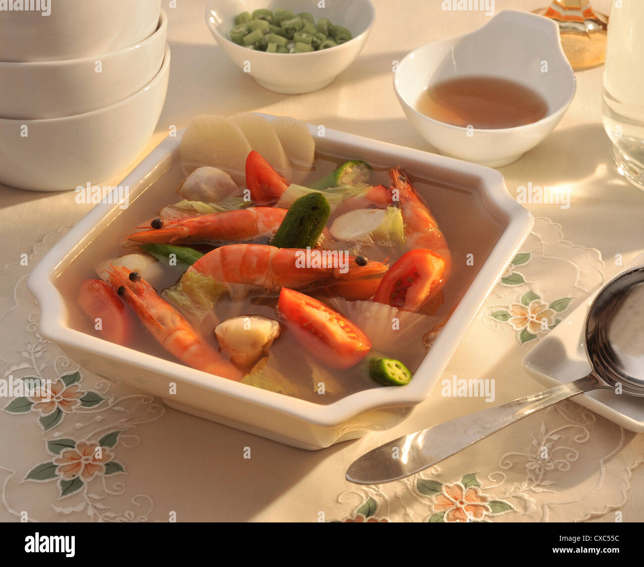 Sinigang, a popular filipino sour soup, Philippines, Southeast Asia, Asia - Stock Image