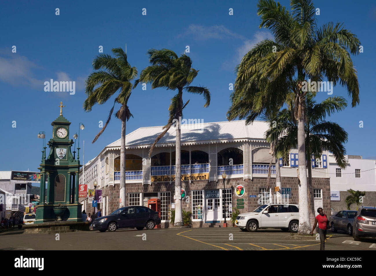 The Circus, Basseterre, St. Kitts and Nevis, West Indies, Caribbean, Central America - Stock Image