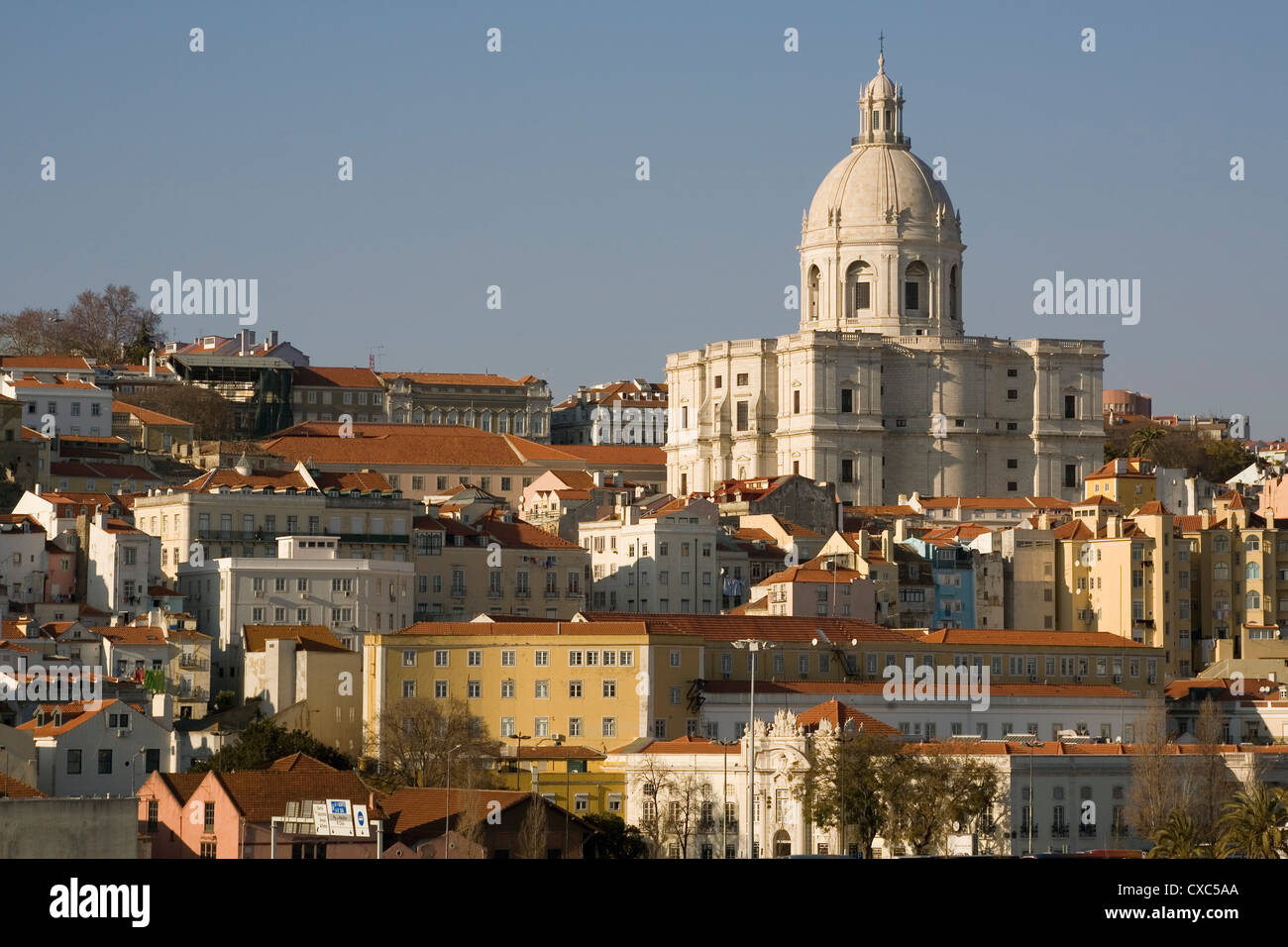 Pantheon and Alfama district, Lisbon, Portugal, Europe - Stock Image